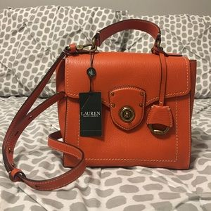 Ralph Lauren Genuine Orange  Leather Bag